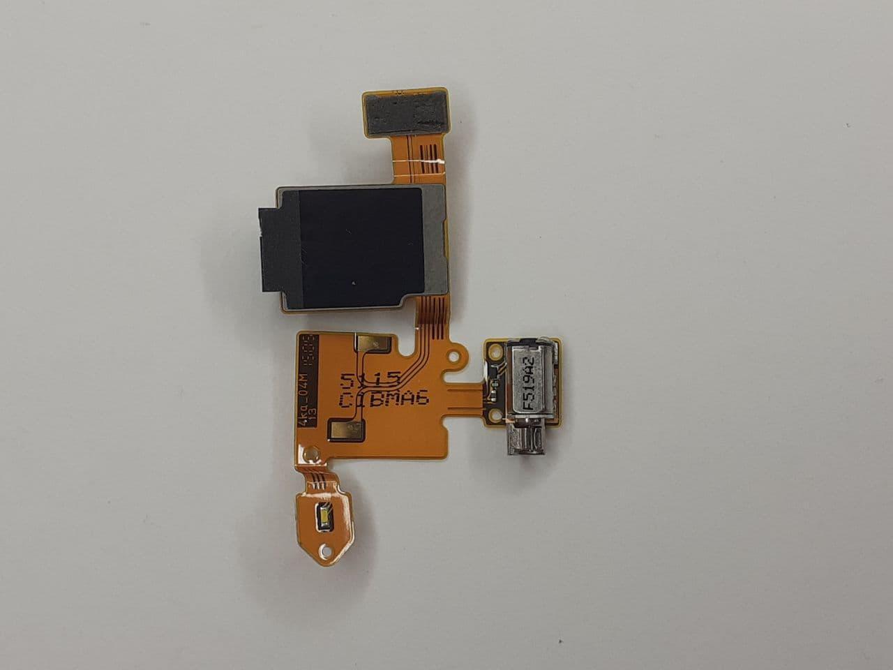 Шлейф Nokia 730 Dual/735 (RM-1040/RM-1038) вибро/аудио разъем оригинал б.у.