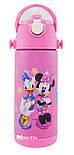 Термос детский с поилкой и шнурком на шею Disney 603 350 мл Микки Маус Розовый, фото 2