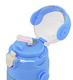 Термос детский с поилкой и шнурком на шею Disney 603 350 мл Ben 10 Голубой, фото 3