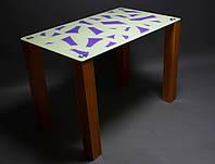 Стол обеденный из стекла модель Осколки