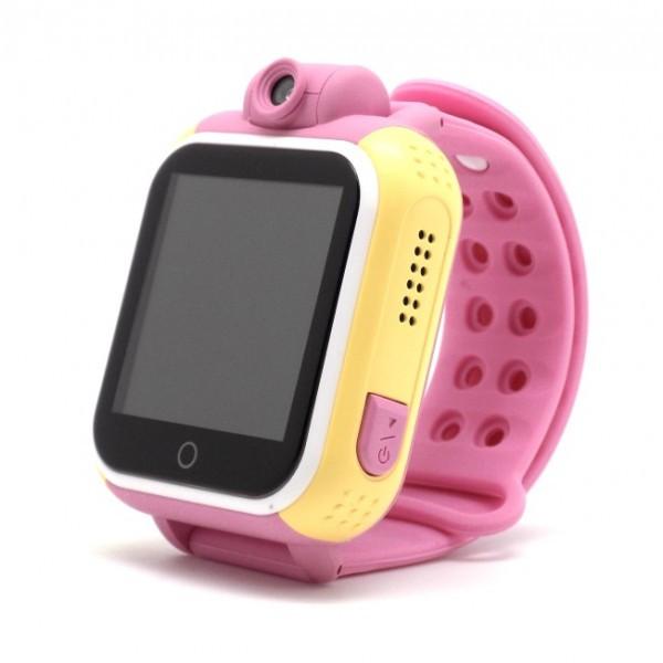 Детские Smart часы Baby watch Q200 (TW6) 1.54' LED + GPS трекер Pink
