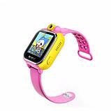 Детские Smart часы Baby watch Q200 (TW6) 1.54' LED + GPS трекер Pink, фото 2