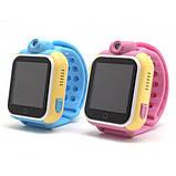 Детские Smart часы Baby watch Q200 (TW6) 1.54' LED + GPS трекер Pink, фото 3