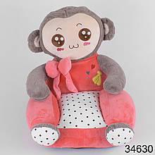 Мягкое детское кресло 346 обезьянка