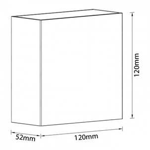Настенный фасадный светильник SEKOYA 2x2W черный с регулируемым углом свечения IP65 Код.59790, фото 2