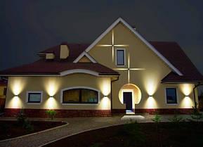 Настенный фасадный светильник SEKOYA 2x2W черный с регулируемым углом свечения IP65 Код.59790, фото 3