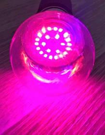 Светодиодная лампа для растений 12W Е27 220V (fito spectrum led) Код.59791
