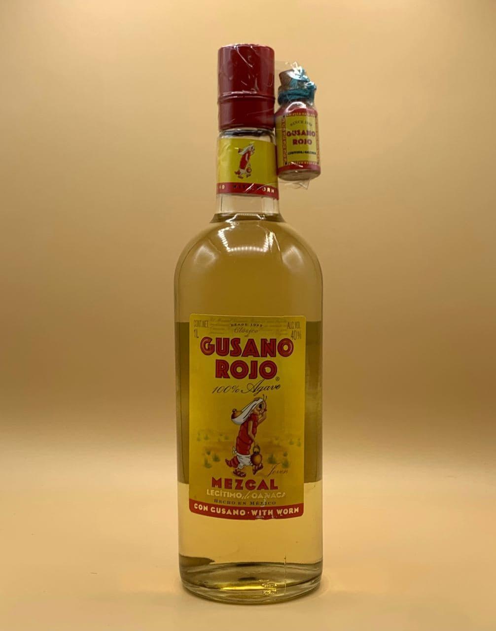 Мескаль Gusano Rojo 1L Гусано Рохо 1л