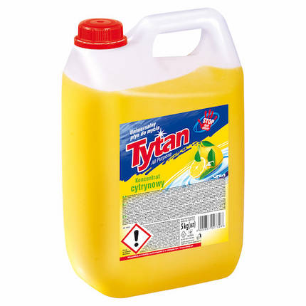 Засіб для миття туалетів та видалення накипу Tytan WC Лимонна свіжість антибактеріальний (жовтий) 5 л., фото 2