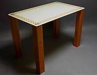 Стол обеденный из стекла модель Плетеная рамка