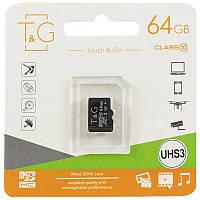 Карта памяти T&G microSDXC (UHS-3) 64 GB class 10 (без адаптера)
