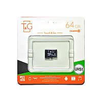 Карта памяти T&G microSDXC (UHS-1) 64 GB class 10 (без адаптера)