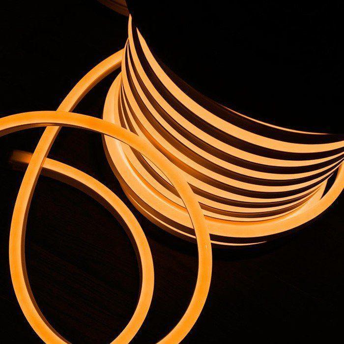 Светодиодный LED гибкий неон PROLUM 2835120 IP68 220V, Оранжевый