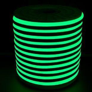Светодиодный LED гибкий неон PROLUM 2835120 IP68 220V, Зеленый