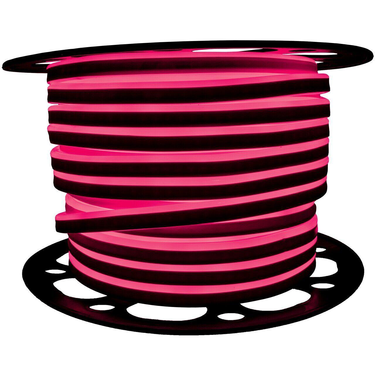 """Светодиодный неон PROLUM Silicone 2835120 8x16 IP68 12V SERIES """"SF"""" PRO, Розовый"""