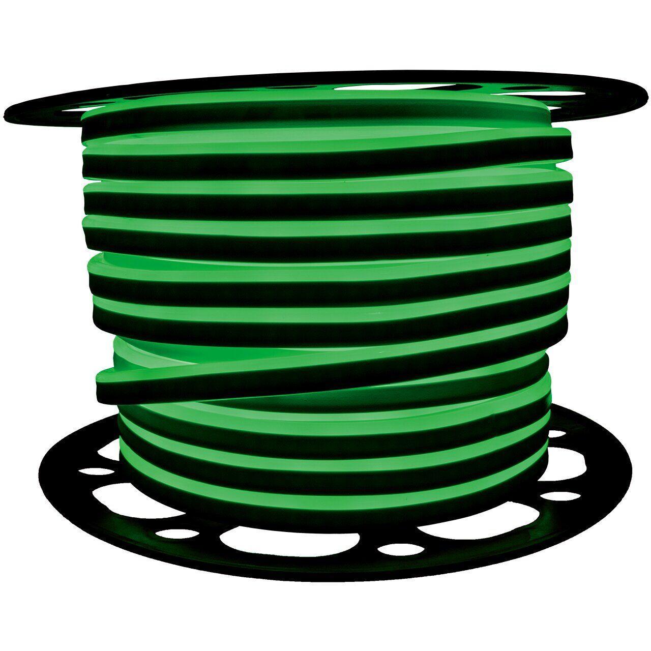"""Светодиодный неон PROLUM Silicone 2835120 8x16 IP68 12V SERIES """"SF"""" PRO, Зеленый"""
