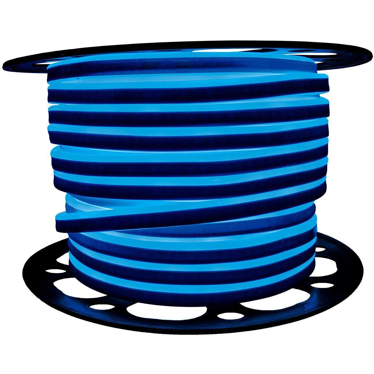 "Светодиодный неон PROLUM Silicone 2835120 8x16 IP68 12V SERIES ""SF"" PRO, Синий"