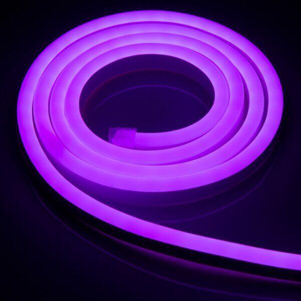 """Светодиодный неон PROLUM Silicone 2835\120 8x16 IP68 12V SERIES """"SF"""" PRO, Фиолетовый"""
