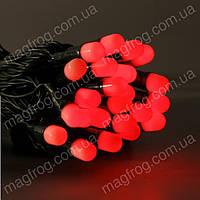 Гирлянда нить уличная 10м, 100LED красная оболочка, фото 1