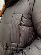 Длинный пухавик пальто Rufuete 19929-black, фото 6