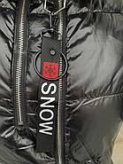 Пуховик длинный с капюшоном Rufuete CL7611, фото 9
