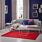 ИКЕА (IKEA) LANGSTED, 304.080.45, Ковер, короткий ворс, красный, 133x195 см - ТОП ПРОДАЖ, фото 3