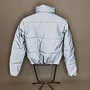Светоотражающая рефлективная подростковая куртка Вик Размеры 140-170, фото 5