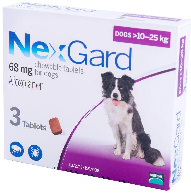 НЕКСГАРД для собак 10-25 кг NEXGARD таблетки от блох и клещей, 1 таблетка