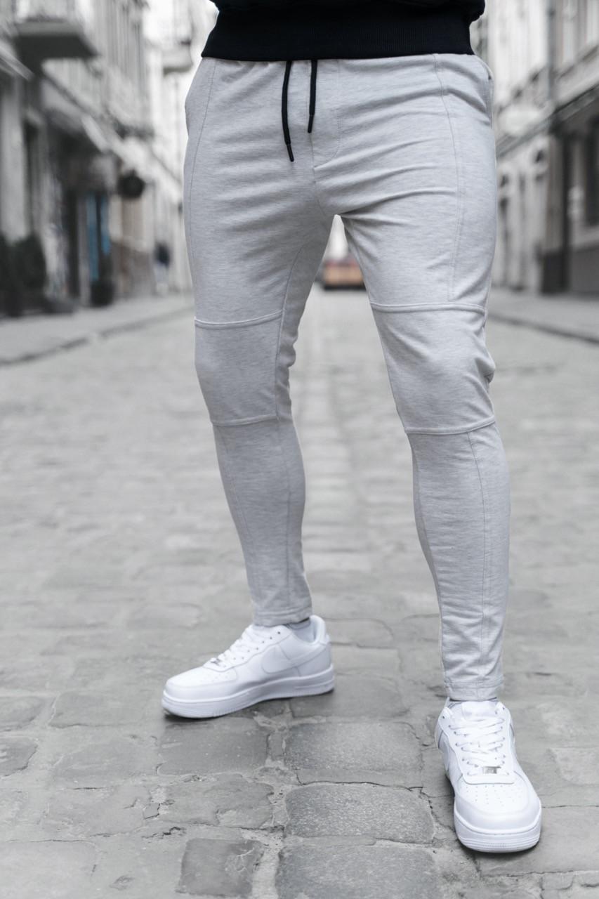 Мужские штаны зауженные светло-серые/ Есть 4 цвета Светло-серый, M