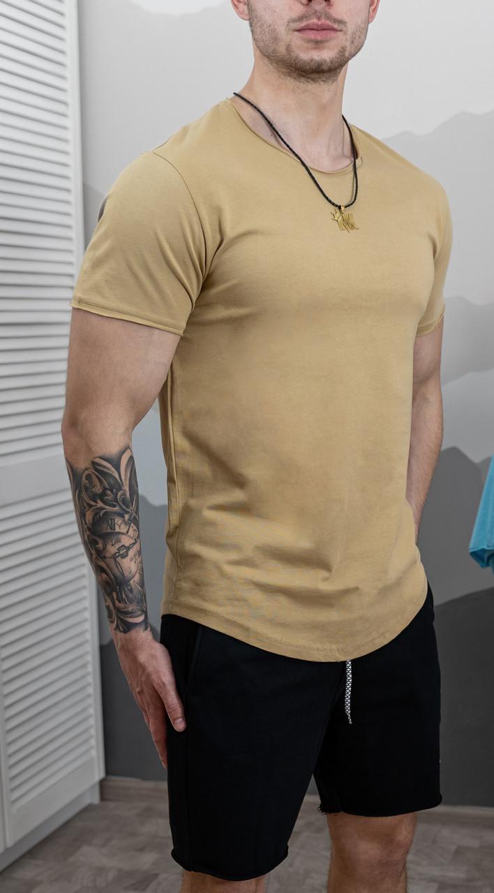 Мужская футболка приталенная Коралловая/ 15 цветов Оливковый
