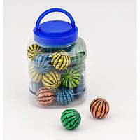 Прыгуны 4 см, каучук, 6 цветов в банке,24 шт в кол, Мячи детские