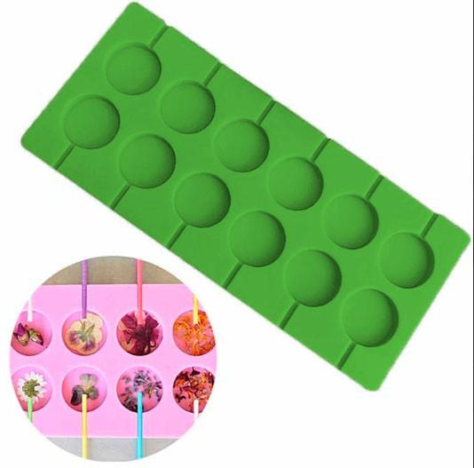 Форма силіконова для льодяників Lolli Pop з 12 шт
