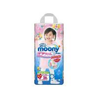 Moony подгузники – трусики Air Fit B-Big (13-25) кг, 26 шт. для девочки