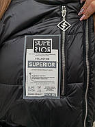 Куртка жіноча довга зимова Rufuete 7726, фото 5