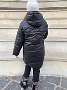 Куртка жіноча довга зимова Rufuete 7726, фото 3