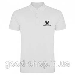Поло Пежо (Peugeot) мужское, тенниска Пежо, мужская футболка Пежо, Турецкий хлопок, копия
