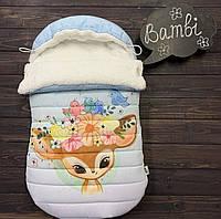 """Зимний конверт-кокон «Bambi"""" (0-6 мес), фото 1"""