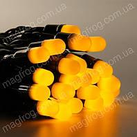 Гирлянда нить уличная 10м, 100LED желтая оболочка, фото 1