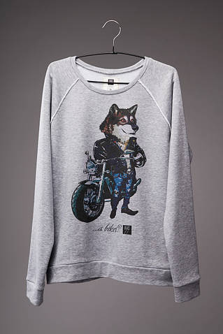 Мужской светшот (свитшот) с принтом Волк