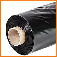 Пленка черная в рулоне 110 мкм 6*50 м для мульчирования и строительства