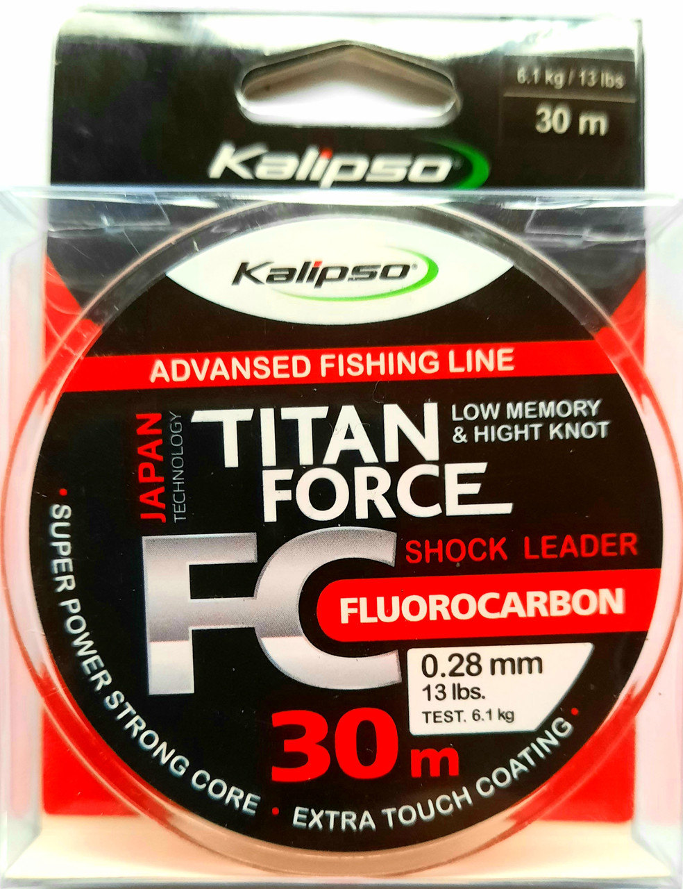 Флюорокарбон Kalipso Titan Force 30м 0,12 мм