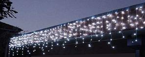 Гирлянда внешняя карниз 180 led RGB мигающая 5м