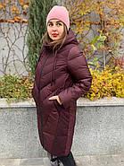 Куртка зимняя бордовая с капюшоном DOSUESPIRIT 931-274, фото 2