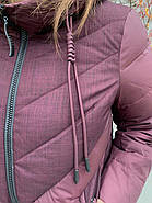 Куртка зимняя бордовая с капюшоном DOSUESPIRIT 931-274, фото 6