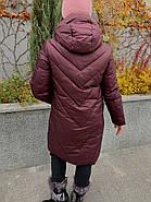Куртка зимняя бордовая с капюшоном DOSUESPIRIT 931-274, фото 4