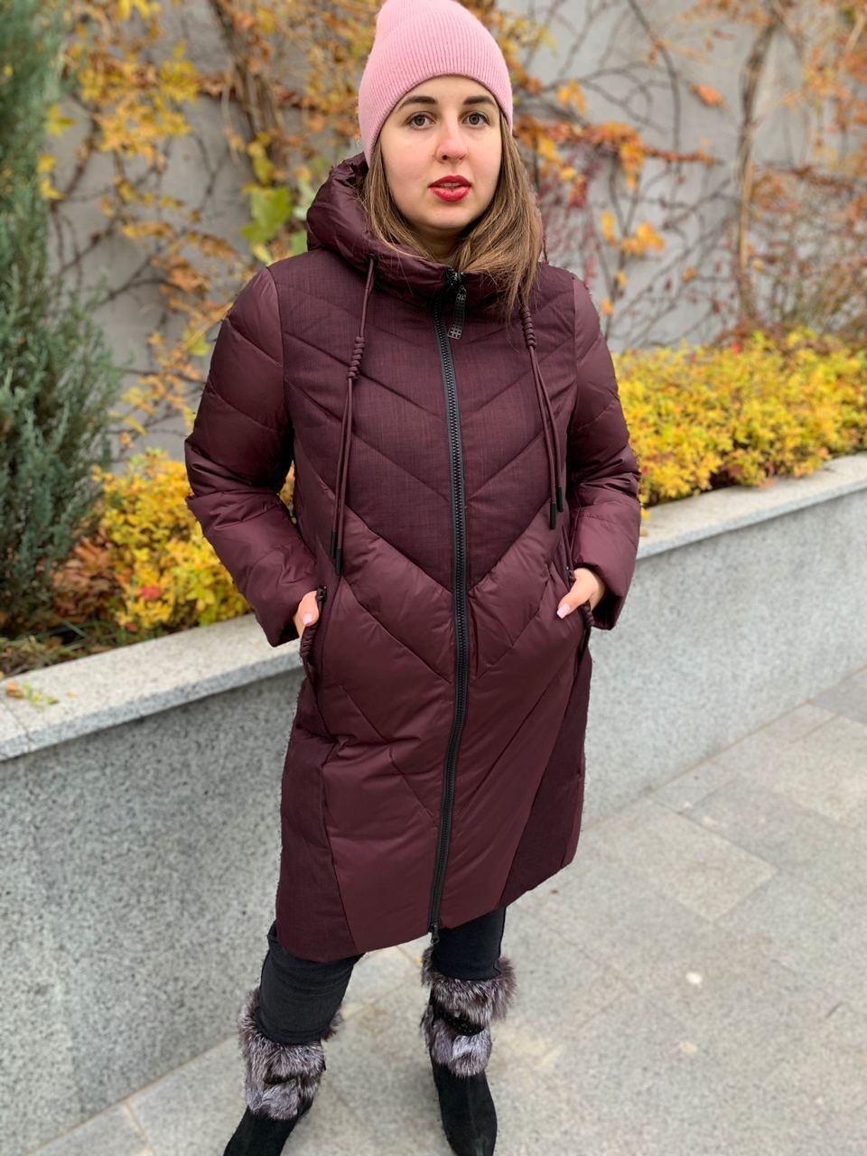 Куртка зимняя бордовая с капюшоном DOSUESPIRIT 931-274