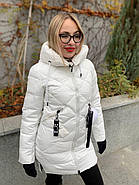 Пуховик женский белый SIYAXIGE 938-2, фото 2