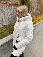 Пуховик женский белый SIYAXIGE 938-2, фото 4