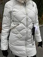 Пуховик женский белый SIYAXIGE 938-2, фото 5
