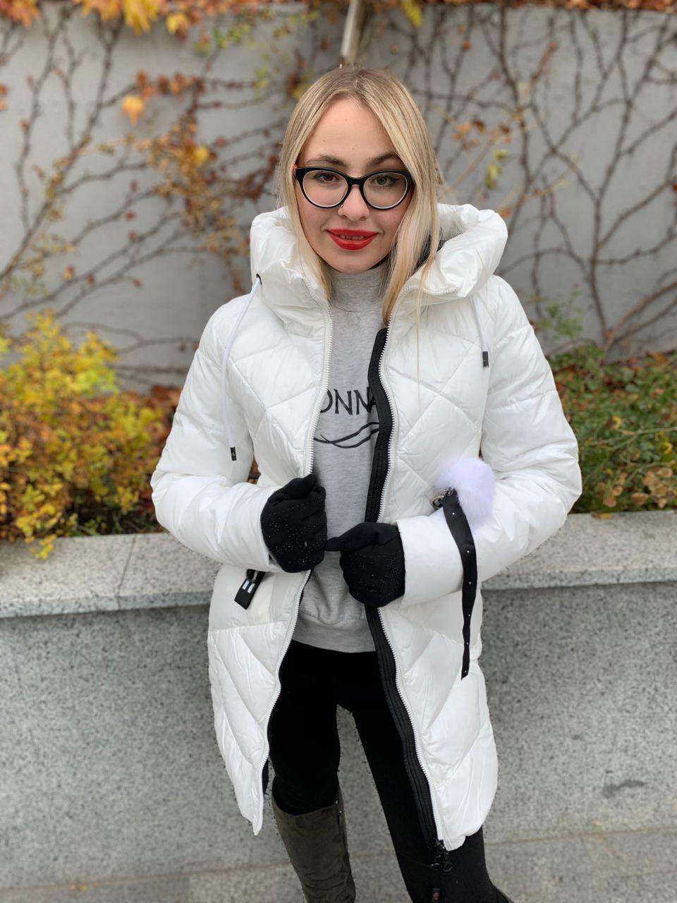 Пуховик женский белый SIYAXIGE 938-2